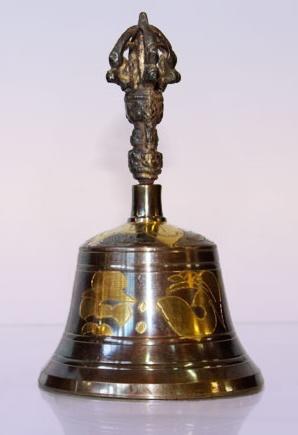 Тибетский HAN0064-1 поющий колокол 13см 9cm 7металлов--200